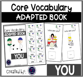 Core Vocabulary Adapted Book: You
