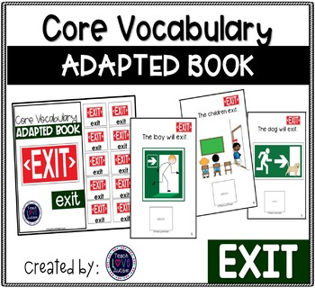 Core Vocabulary Adapted Book: eXit
