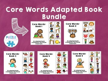 Core Vocabulary Adapted Books Bundle