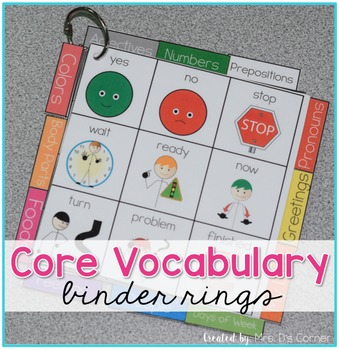 Core Vocabulary Binder Ring - Core Board Binder Ring AAC