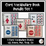 Core Vocabulary Book Bundle Set 1 (PUT, GO, STOP, DOWN, UP)
