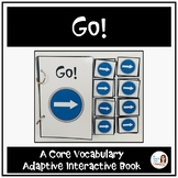 """Core Vocabulary Book """"GO!"""" for AAC Users and Speech Therapy"""