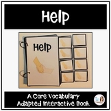 "Core Vocabulary Book ""HELP"" for AAC Users and Speech Therapy"