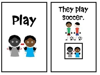 """Core Vocabulary Book """"PLAY"""" for AAC Users and Speech Therapy"""