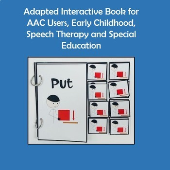 "Core Vocabulary Book ""PUT"" for AAC Users and Speech Therapy"