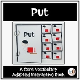 """Core Vocabulary Book """"PUT"""" for AAC Users and Speech Therapy"""
