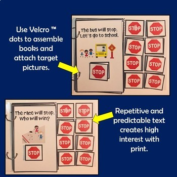 """Core Vocabulary Book """"STOP"""" for AAC Users and Speech Therapy"""