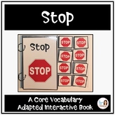 "Core Vocabulary Book ""STOP"" for AAC Users and Speech Therapy"