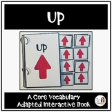 """Core Vocabulary Book """"UP"""" for AAC Users and Speech Therapy"""