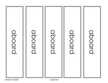Core Vocabulary Bookmarks Grade 3