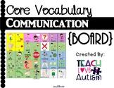 Core Vocabulary Communication Board