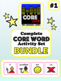 Complete Core Word Activity Set Bundle 1: YES, NO, HI, BYE