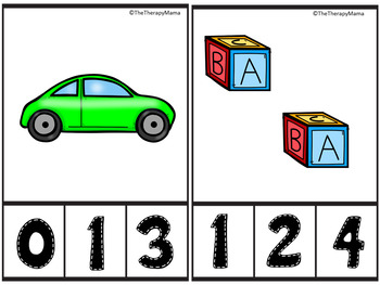 Core Vocabulary Count and Clip Number Cards