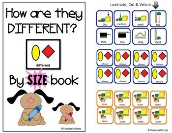 Core Word DIFFERENT by Size Interactive Book