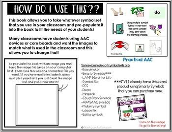 Core Vocabulary Editable Symbol Adapted Book: GO