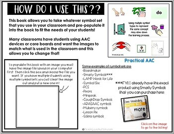Core Vocabulary Editable Symbol Adapted Book: MORE