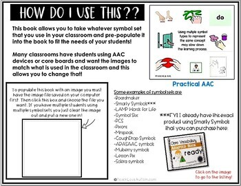 Core Vocabulary Editable Symbol Adapted Book: READY