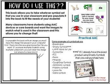 Core Vocabulary Editable Symbol Adapted Book: TURN