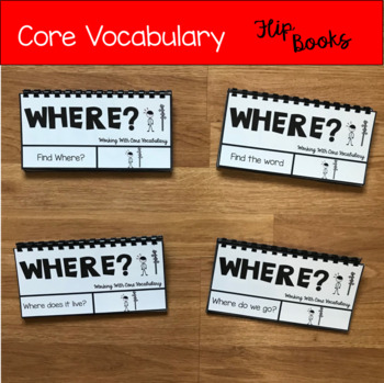 """Core Vocabulary Flip Books:  """"Working With The Word Where"""""""