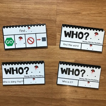 "Core Vocabulary Flip Books:  ""Working With The Word Who"""