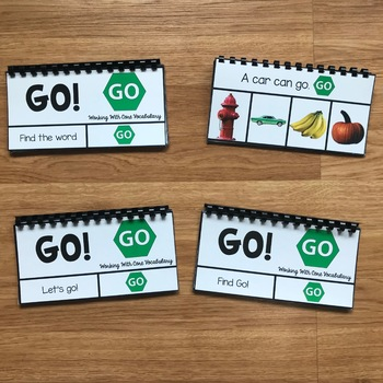 "Core Vocabulary Flip Books:  ""Working With the Word Go"""