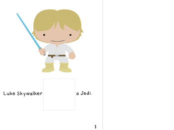 Core Vocabulary Interactive Book - Is - Star Wars Themed
