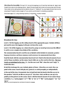 Core Vocabulary Interactive Book: Pizza Party!