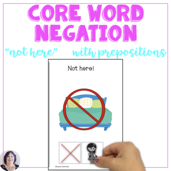 AAC Core Vocabulary Interactive Book for Teaching the words Not Here