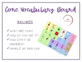 Core Vocabulary Introduction + FREE 30 word CVB