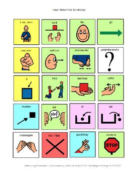 Core Vocabulary Level 3