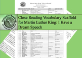 "Core Vocabulary List for Martin Luther King ""I Have A Drea"
