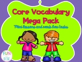 Core Vocabulary Bundle Mini Lessons and Work Box Tasks