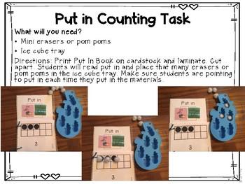 Core Vocabulary Bundle Mini Lessons and Work Box Tasks