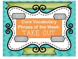 Core Vocabulary Phrase of the Week Interactive Book and Ac