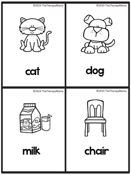 Core Vocabulary Picture Cards