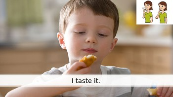 Core Vocabulary PowerPoint Story: Taste
