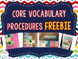 Core Vocabulary Procedures FREEBIE
