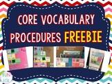 Core Vocabulary Procedures FREEBIE