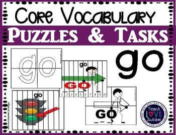 Core Vocabulary Puzzles & Tasks: GO