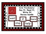 Core Vocabulary: Review - STOP, WANT, GO, HELP, MORE