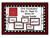 Core Vocabulary: Review - WHAT, THAT, MINE, LIKE, IT