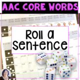 AAC Core Vocabulary Activity Roll a Phrase or Sentence
