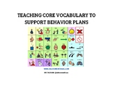 Core Vocabulary Selection Chart for Supporting Behavior