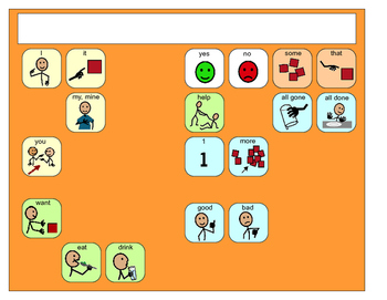 Core Vocabulary SymbolStix Placemats- assistive technology, aac, speech