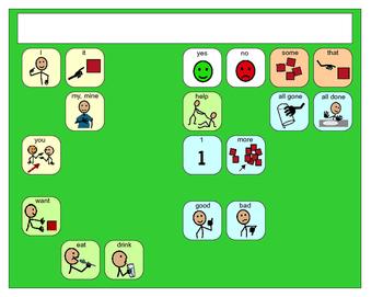 Core Vocabulary SymbolStix Placemats- assistive technology, aac, speech