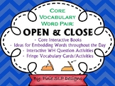 Core Vocabulary Word Pair Interactive Books and Activities