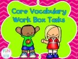 Core Vocabulary Work Tasks