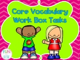 Core Vocabulary Work Tasks