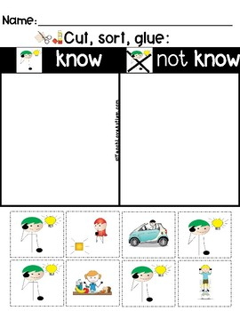 Core Vocabulary Worksheets: KNOW