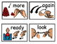 Core Vocabulary words with sign language